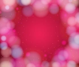 Pink gentle bokeh vector backgrounds 01