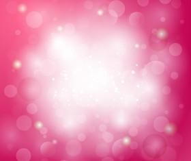 Pink gentle bokeh vector backgrounds 02