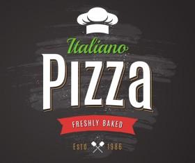 Pizza Logo vintage styles vector 01
