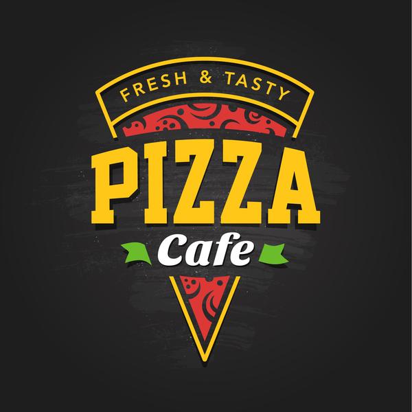 Pizza Logo vintage styles vector 04