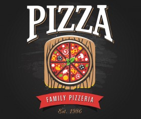 Pizza Logo vintage styles vector 05