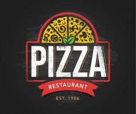 Pizza Logo vintage styles vector 06