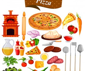 Pizza vector material