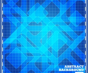 Plaid pattern with blue modern background vector