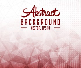 Points Lines with polygon abstract background vector