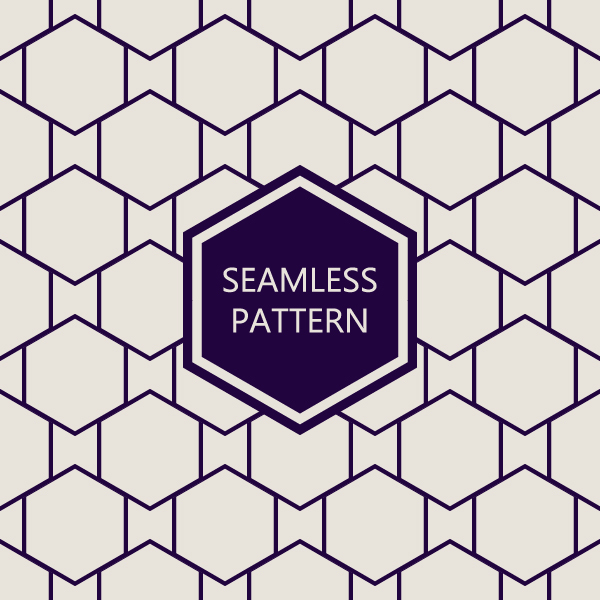 Polygon geometry seamless pattern vector free download