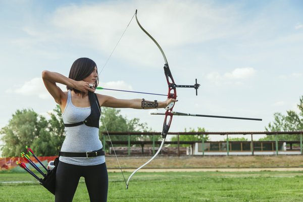 Practice Archery Female Athlete Stock Photo Free Download