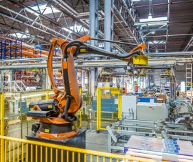 Production Line Industrial Robots Stock Photo 02
