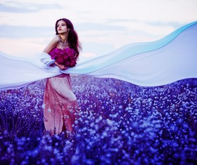 Purple flowers of seductive beauty Stock Photo