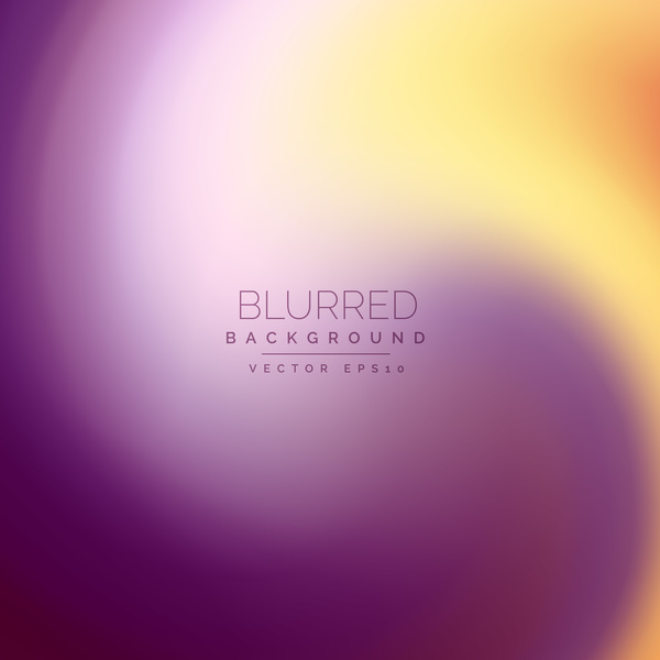 Purple with yellow blurred background vector