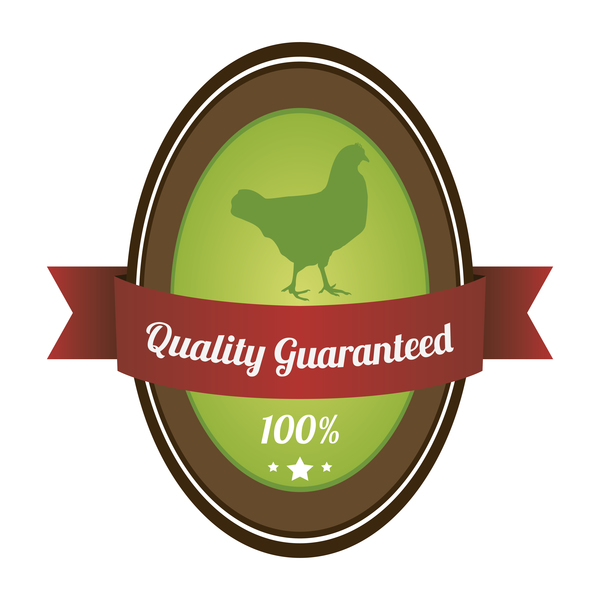 Quality guargnteed farm labels vector 01