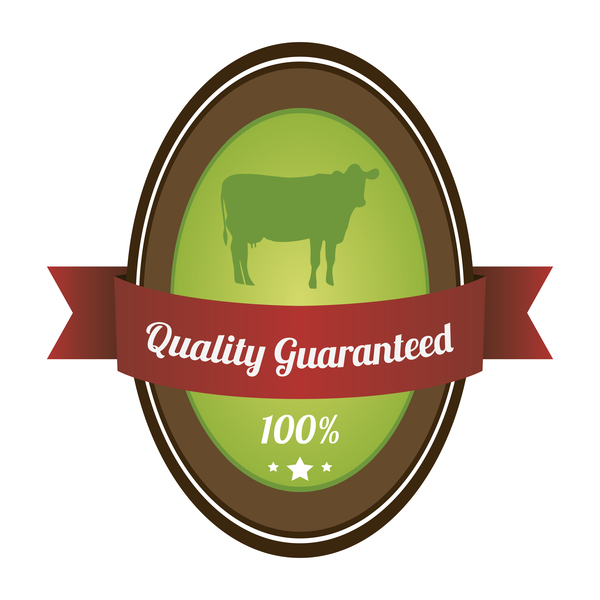 Quality guargnteed farm labels vector 02