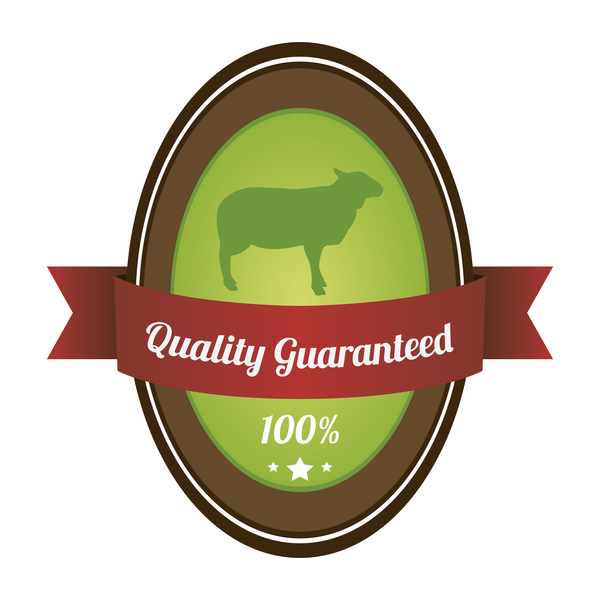 Quality guargnteed farm labels vector 03