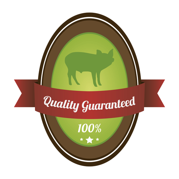 Quality guargnteed farm labels vector 04