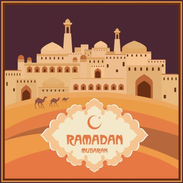 Ramadan mubarak background design vector 01