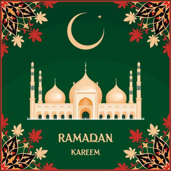 Ramadan mubarak background design vector 05