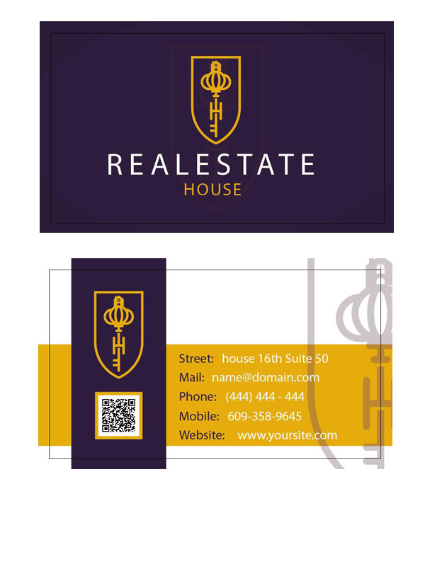 business card vector - for free download