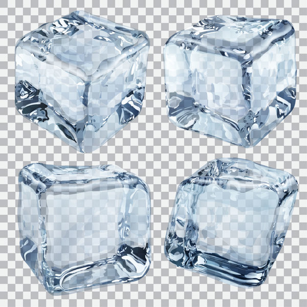 Realistic Ice cubes illustration vector 01