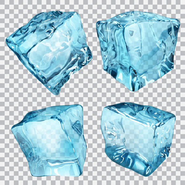 Realistic Ice cubes illustration vector 02