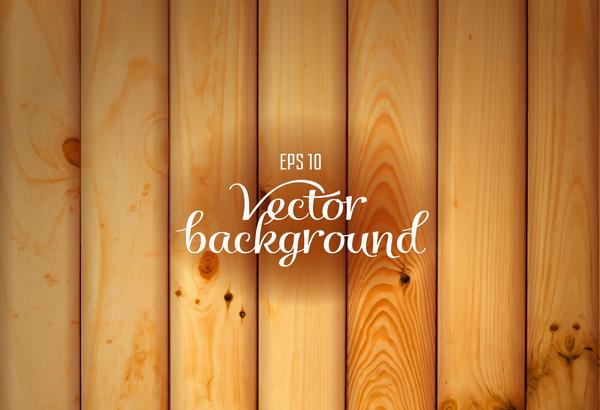 Realistic wooden texture background vectors