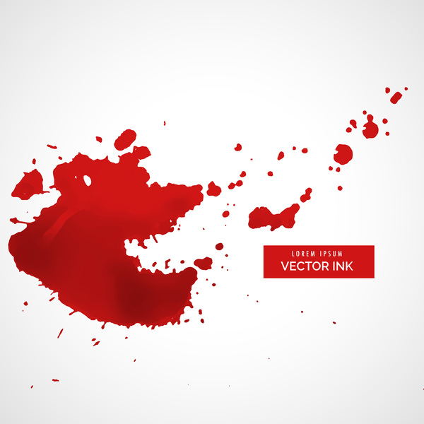 Red ink stains and paint vector background 01
