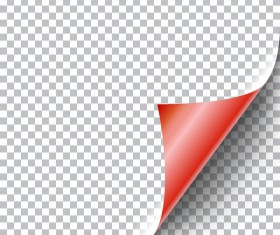 Red paper curled corners vector