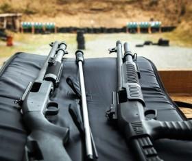 Remington gun automatic shotgun Stock Photo