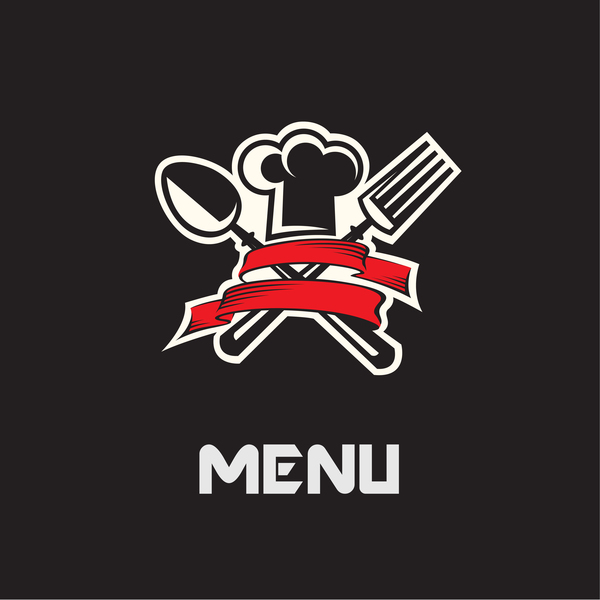 Restaurant menu with black background vector