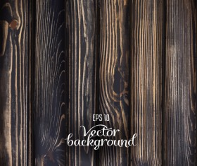 Retro black wooden texture background vector