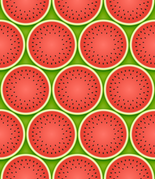 Ripe watermelon seamless pattern vector 01