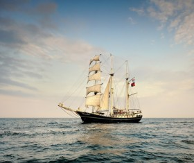 Sailing sea ships Stock Photo