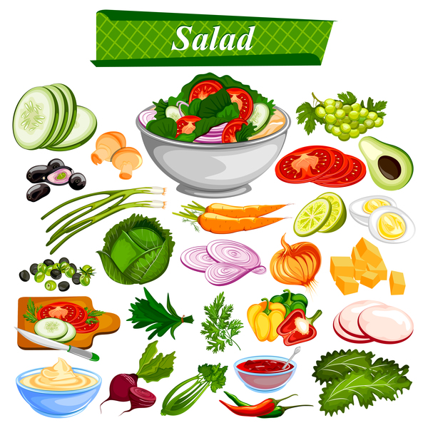 Salad food vector design