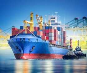 Sea cargo transport Stock Photo