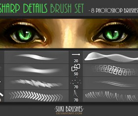 Sharp Details Photoshop Brushes