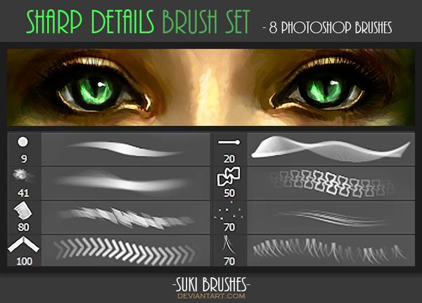Sharp Details Photoshop Brushes