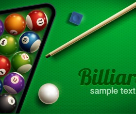 Shiny billiard vector background design