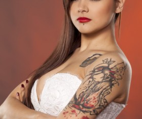 Shoulder Tattoo Girl HD picture