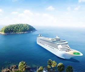 Sightseeing cruise ship Stock Photo 01