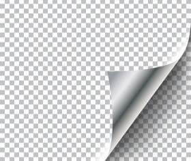 Silver paper curled corners vector