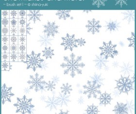 Snowflakes and more photoshop brushes