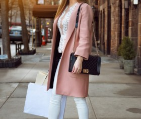 Street fashion dressed girl HD picture