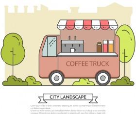 Street store vector template 03