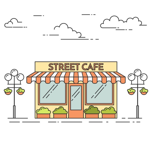 Street sweet shop vector material 04