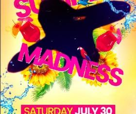 Summer Madness Flyer Psd Template
