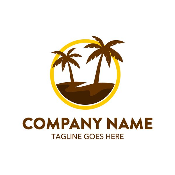 Palm Tree Logo / Show off your brand's personality with a custom palm tree logo designed just for you by a professional designer.