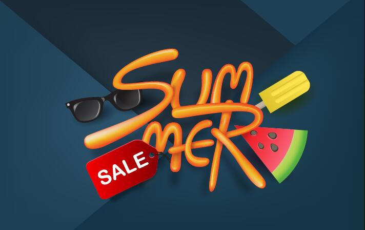 Summer sale poster vector template 01