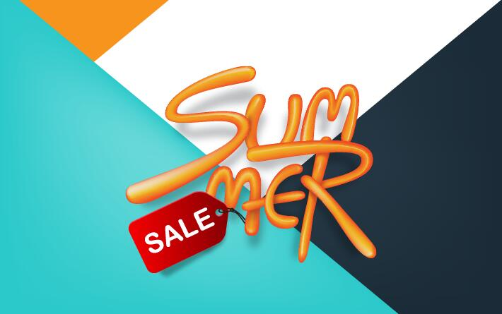 Summer sale poster vector template 02