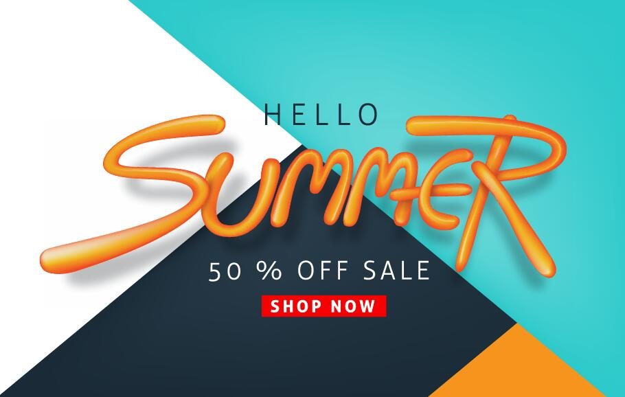 Summer sale poster vector template 03