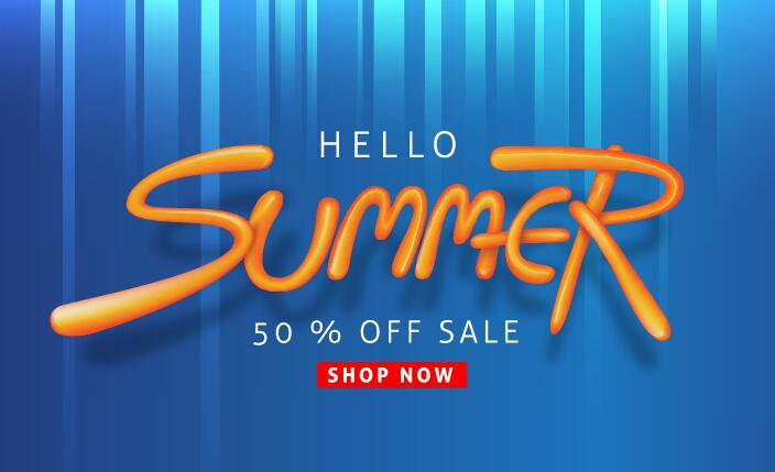 Summer sale poster vector template 05