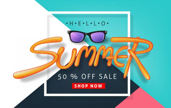 Summer sale poster vector template 06